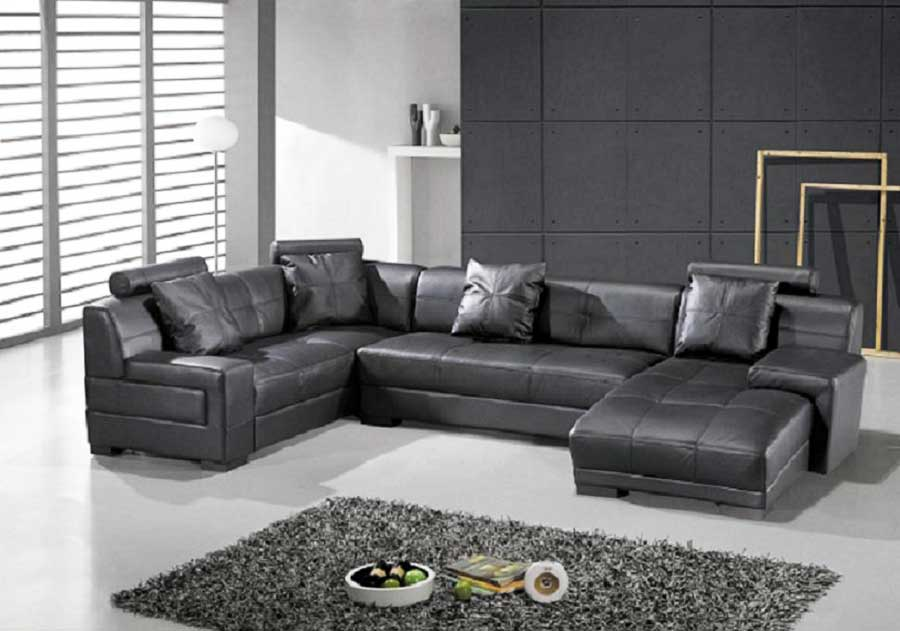 Get the best of 2018 design world by having a leather sectional sofa