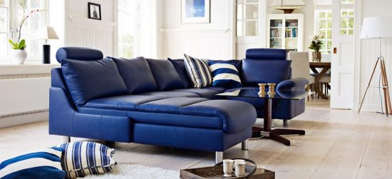 A trendy and magical choice for your interior design; 2016 blue sofa