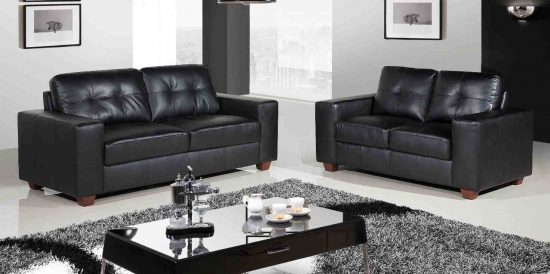 Black Leather Sofa; the best choice for charming living area
