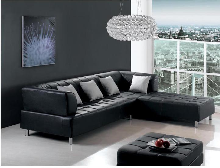 Black Leather Sofa; the best choice for charming living area 14 ...