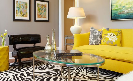 Brighten up your living room with 2015 stunning Yellow sofa