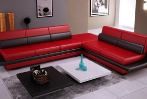 Make a bold statement in your living area with 2018 Red Leather Sofa