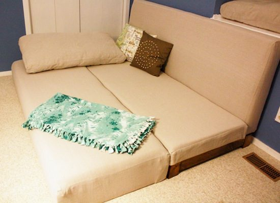 "Live a cozy lifestyle by having smart piece ""couch into a bed"""