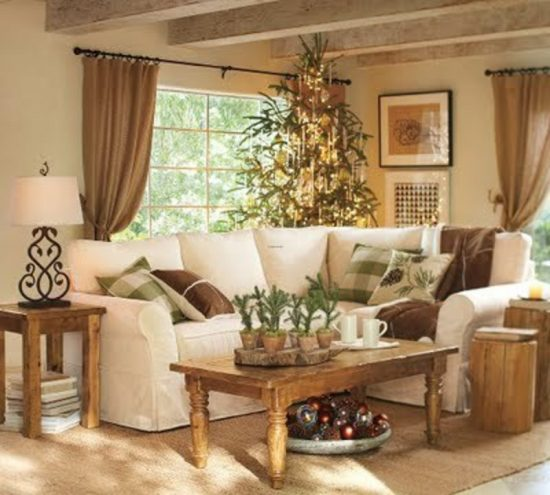 how to style your sofa with christmas decorations for this year - Christmas Decorations For Sofa Table
