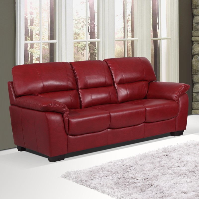 2017 Burgundy Leather Sofas; warm and inviting living room ...