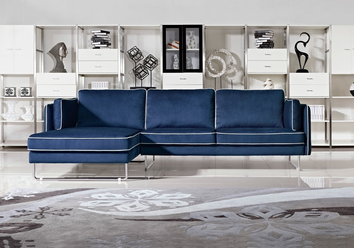 2021 Navy Blue Leather Sofas For A Bold And Stunning Centerpiece