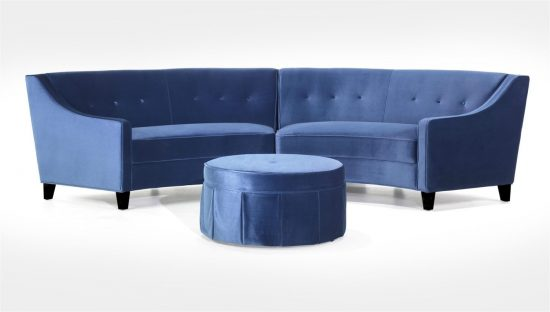 2017 Navy blue leather sofas for a bold and stunning centerpiece