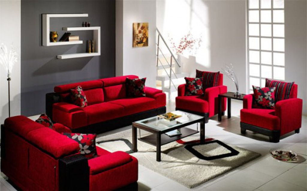 2017 Red Leather Sofas for Charming, Warm and Rich living ...