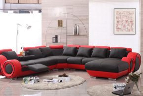 2018 Red and Black Leather Sofas - A striking and luxurious look