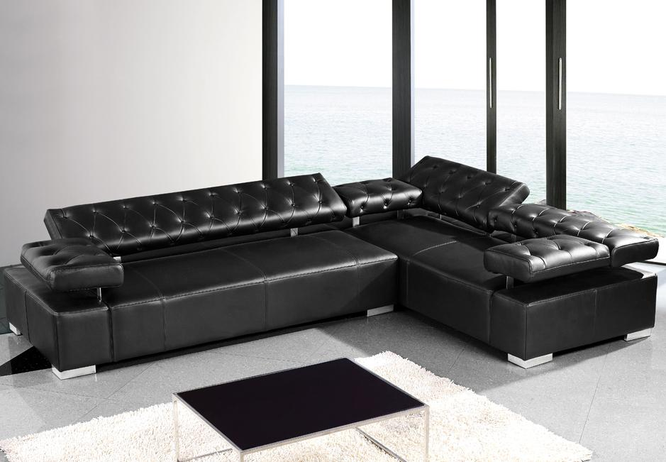 2018 black leather sofas - a great statement in every home