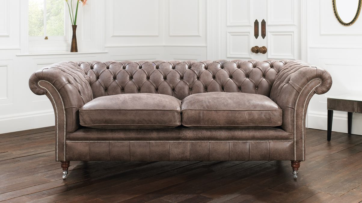 2017 Studded Leather Sofas Add A Timeless Beauty And Comfort
