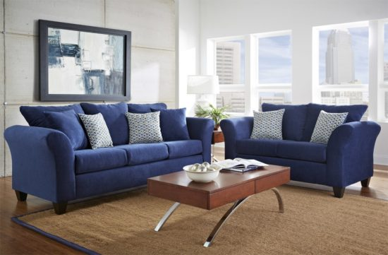 2017 trendy blue leather sofas for bright homes