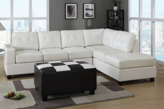 Beautifully furnish your large space with 2017 stylish large leather sofa