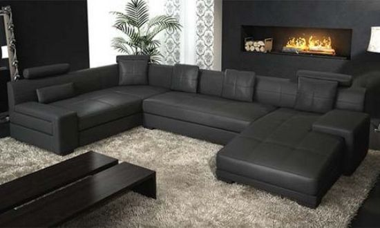 Black leather sofa sale; get your dream affordable leather sofa 16 ...