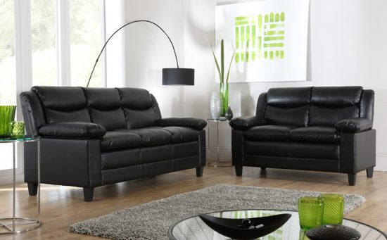 Distressed Black Leather Sofas For A Timeless Beauty And