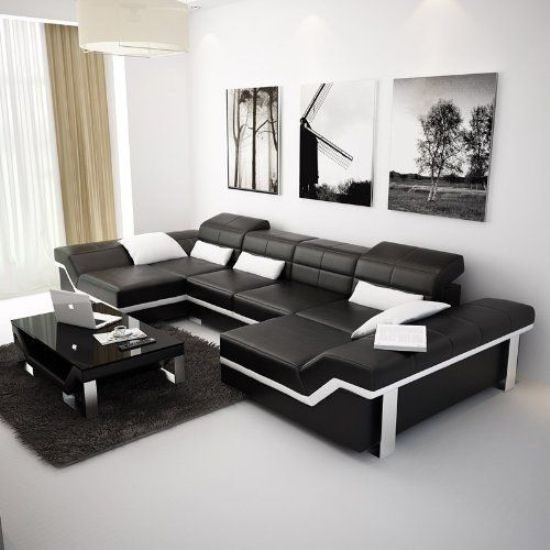 Leather Sofa Price: Get A Unique Look With 2018 Black And White Leather Sofa