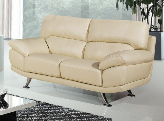 Small Cream Leather Sofas For Cozy And Elegant Small