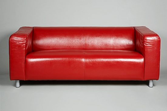 Charmant Small Red Leather Sofas For Vibrant Small Living Area In 2017