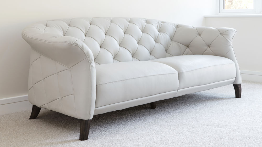 2017 2-seater leather sofas in white best choice to brighten up your ...