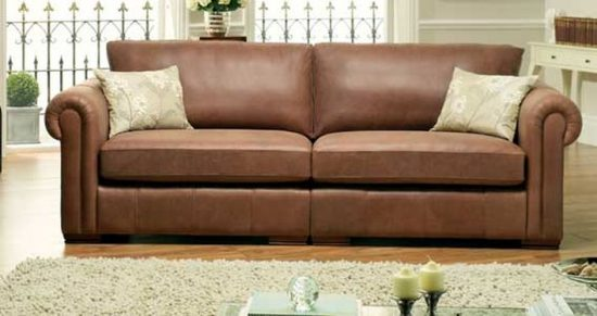 The best leather sofas for best elegantly comfortable for Sofa vor fenster