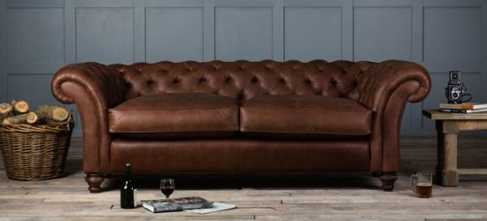 What goes well with brown leather sofa for 2017 trendy look!