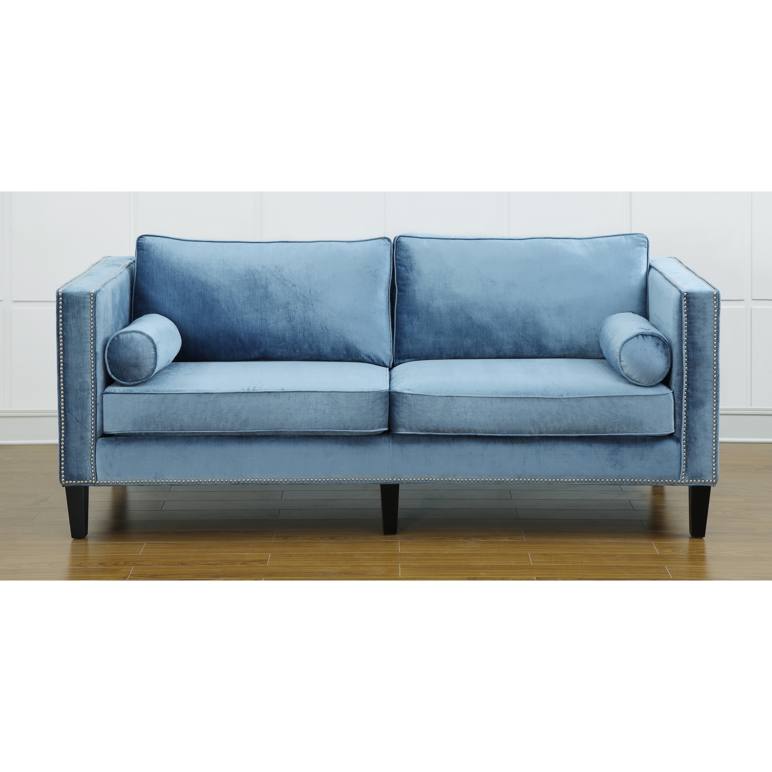 tropical style light blue velvet sofa armen living brand  u2013 couches  u0026 sofa