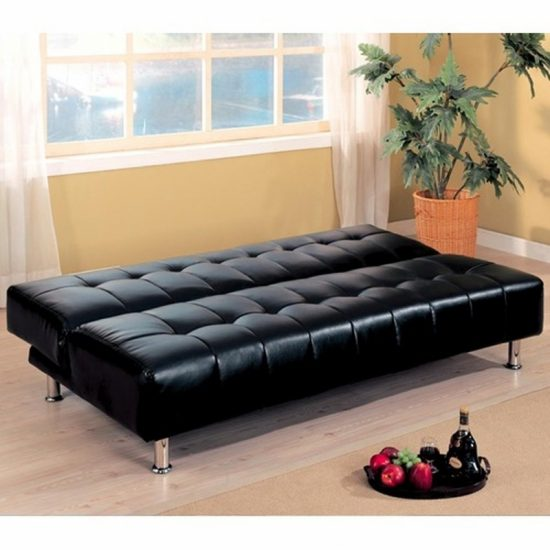 2017 Best Black Leather Sofa Beds Luxury Elegance and comfort