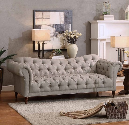 Add a touch of style to your home with a chesterfield style sofa