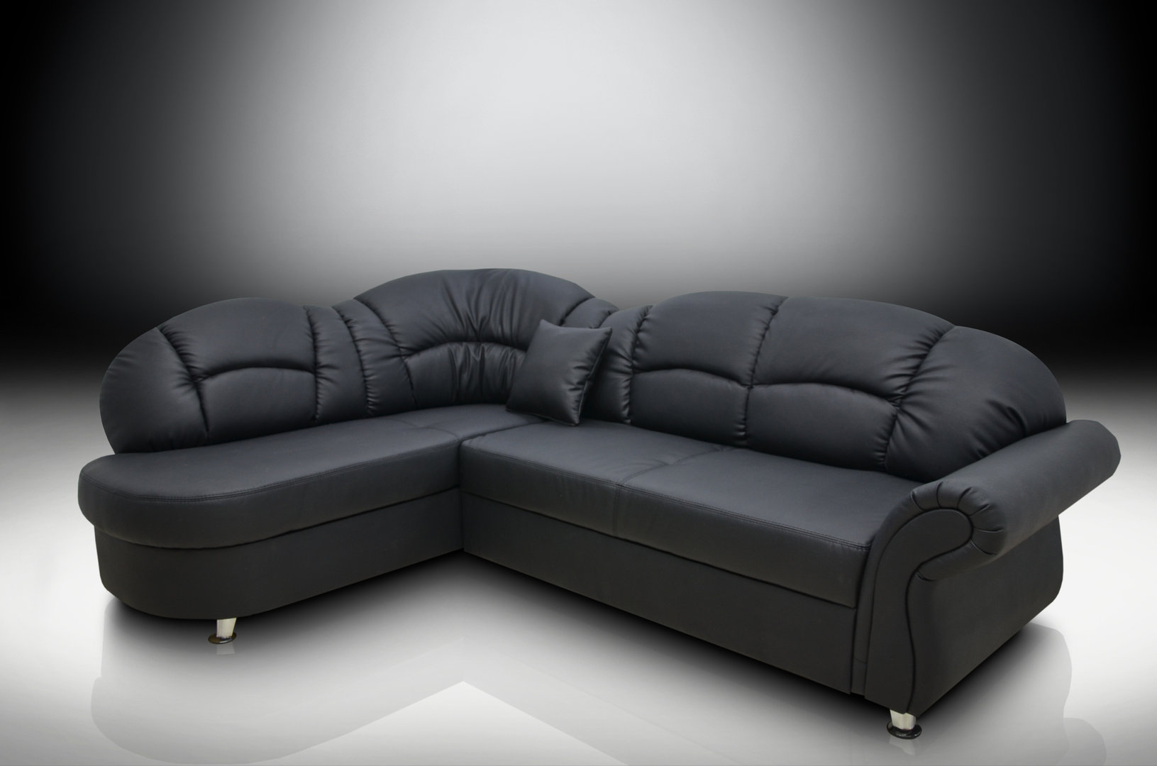 Black corner sofas – a perfect mix of luxury, comfort, style ...