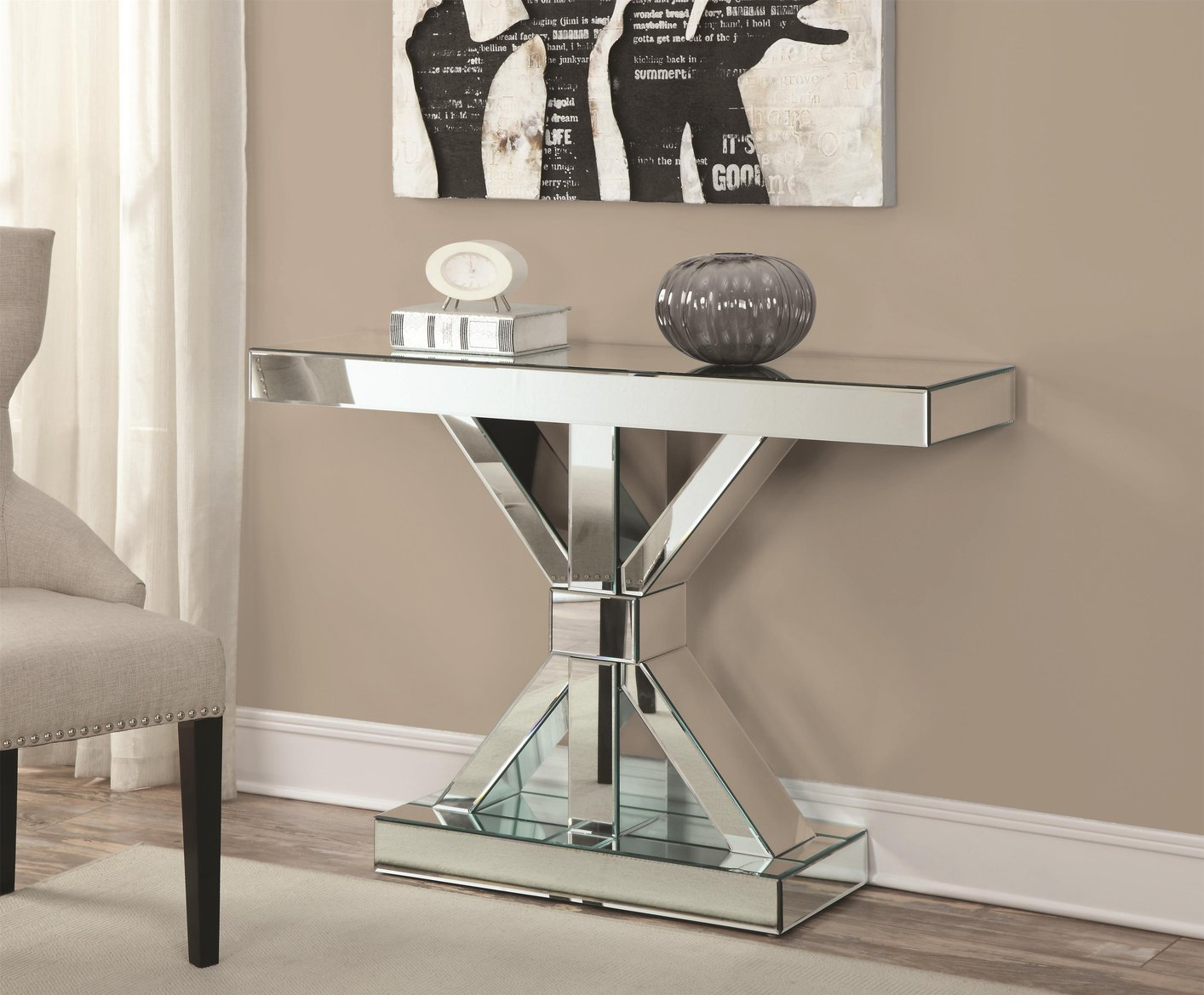 Glass Console Tables   Catchy Gorgeous Decorative Pieces For Stylish Homes    Sofa Table