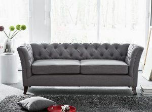 Grey chesterfield sofa - a stunning elegance and hormonally beauty with softness