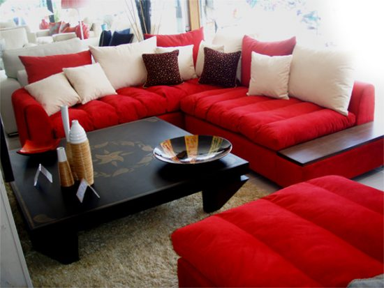... Renovate Your Living Room Look With 2017 Red Sofa Beds ...