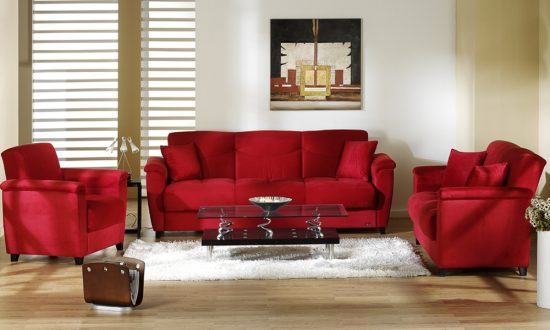 Renovate your living room look with 2017 red sofa beds