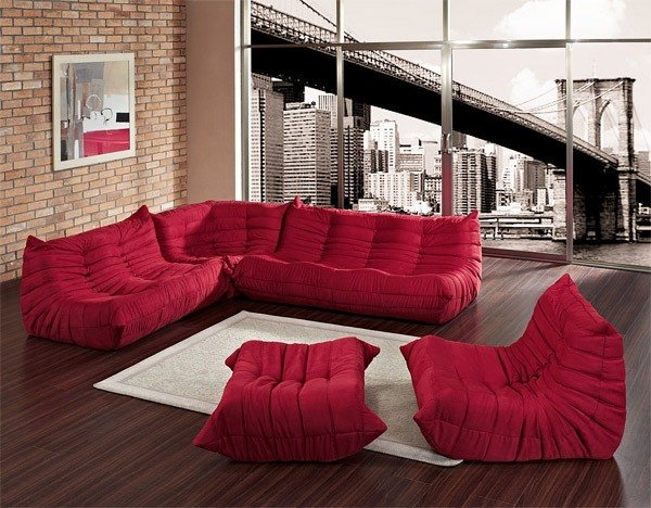 Renovate your living room look with 2018 red sofa beds