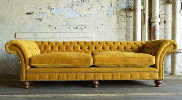 Velvet chesterfield sofas; lend your home the beauty and elegance of old eras